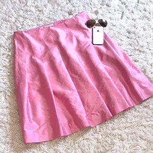 Banana Republic Silk Pleated A-line Skirt